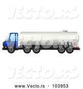 Vector of Cartoon Big Rig Fuel Truck by Graphics RF