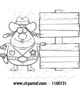 Vector of Cartoon Black and White Chubby Cowgirl by Double Wooden Signs by Cory Thoman