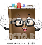 Vector of Cartoon Book Mascot with Glasses and Marks by BNP Design Studio