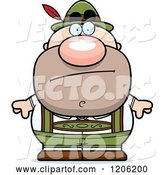 Vector of Cartoon Bored Short Oktoberfest German Guy by Cory Thoman