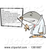 Vector of Cartoon Chemist Mole Pointing to a White Board by Toonaday