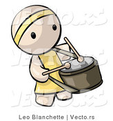 Vector of Cartoon Chinese Drummer Guy by Leo Blanchette