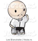 Vector of Cartoon Chinese Guy Waving Hello by Leo Blanchette
