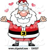 Vector of Cartoon Chubby Amorous Santa by Cory Thoman