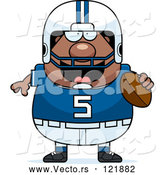 Vector of Cartoon Chubby Black Football Player by Cory Thoman