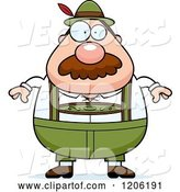Vector of Cartoon Chubby Oktoberfest German Guy with a Mustache by Cory Thoman
