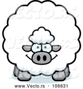 Vector of Cartoon Chubby Sheep by Cory Thoman