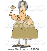 Vector of Cartoon Chubby White Lady Pointing to Her Flabby Tricep by Djart