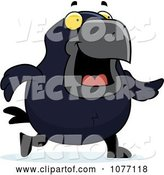 Vector of Cartoon Crow Walking by Cory Thoman