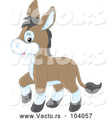 Vector of Cartoon Cute Baby Donkey by Alex Bannykh