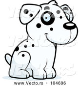 Vector of Cartoon Dalmatian Puppy Sitting by Cory Thoman