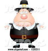 Vector of Cartoon Depressed Male Thanksgiving Pilgrim by Cory Thoman