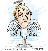 Vector of Cartoon Doodled Depressed Male Angel by Cory Thoman