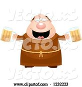 Vector of Cartoon Drunk Monk with Beer by Cory Thoman