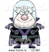 Vector of Cartoon Evil Chubby Male Villain by Cory Thoman