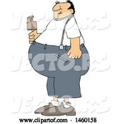 Vector of Cartoon Fat Guy Eating Ice Cream by Djart