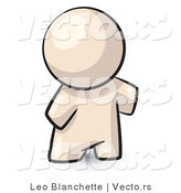 Vector of Cartoon Featureless Blank White Guy Standing by Leo Blanchette