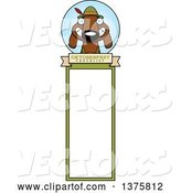 Vector of Cartoon German Oktoberfest Dachshund Dog Wearing Lederhosen Bookmark by Cory Thoman