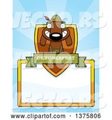 Vector of Cartoon German Oktoberfest Dachshund Dog Wearing Lederhosen Page Border by Cory Thoman