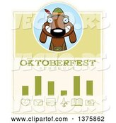 Vector of Cartoon German Oktoberfest Dachshund Dog Wearing Lederhosen Schedule Design by Cory Thoman