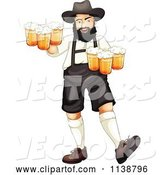 Vector of Cartoon German Oktoberfest Guy with Beer by Graphics RF