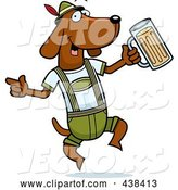 Vector of Cartoon German Oktoberfest Wiener Dog by Cory Thoman
