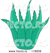 Vector of Cartoon Green Aloe Plant by Visekart