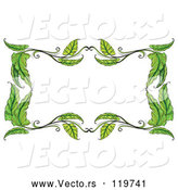 Vector of Cartoon Green Leaf Frame by Graphics RF