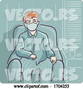 Vector of Cartoon Guy Self Quarantine Inside House Illustration by BNP Design Studio