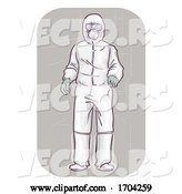 Vector of Cartoon Guy Wear Whole Body Protective Suit Illustration by BNP Design Studio