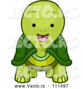 Vector of Cartoon Happy Tortoise by BNP Design Studio