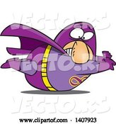 Vector of Cartoon Heavy White Male Super Hero Stuck on the Ground by Toonaday