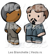 Vector of Cartoon Indian and White Guy Talking by Leo Blanchette