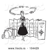 Vector of Cartoon Lady Thinking of Modes of Transportation to Embark on Her Traveling Journeys by Picsburg