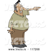 Vector of Cartoon Mad Indian Guy Pointing by Djart