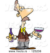 Vector of Cartoon Male Wine Taster by Toonaday
