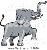 Vector of Cartoon Marching Elephant by Patrimonio