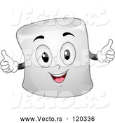Vector of Cartoon Marshmallow Mascot Holding Two Thumbs up by BNP Design Studio