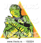 Vector of Cartoon Mummy Wrapped by Andy Nortnik