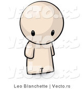 Vector of Cartoon Person Standing and Looking Downwards Towards the Ground by Leo Blanchette