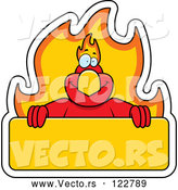 Vector of Cartoon Phoenix Bird with a Flaming a Sign by Cory Thoman