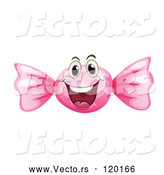 Vector of Cartoon Pink Hard Candy Mascot by Graphics RF