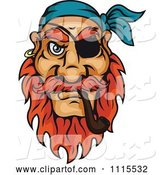 Vector of Cartoon Pirate Smoking a Tobacco Pipe by Vector Tradition SM