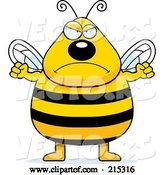 Vector of Cartoon Plump Angry Bee by Cory Thoman