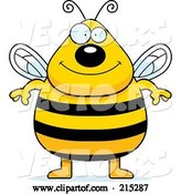 Vector of Cartoon Plump Bee Standing on His Hind Legs by Cory Thoman