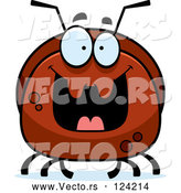 Vector of Cartoon Pudgy Grinning Ant by Cory Thoman