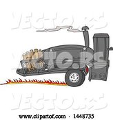 Vector of Cartoon Racing Lang 84 Inch Deluxe Barbeque Smoker Trailer by LaffToon