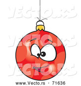 Vector of Cartoon Red Christmas Bauble Face by Toonaday