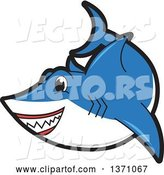 Vector of Cartoon Shark School Mascot Character by Toons4Biz