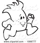 Vector of Cartoon Squiggle Guy Running by Toons4Biz